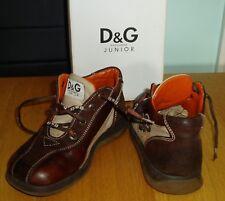 AMAZING D&G JUNIOR Dolce & Gabbanna LEATHER SHOES/BOOTS SIZE EU 29 UK 11