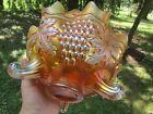 Fenton GRAPE & CABLE ANTIQUE CARNIVAL ART GLASS FRUIT BOWL~MARIGOLD~BEAUTIFUL!