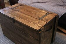 Rustic Wooden Chest Trunk,Blanket Box, Coffee Table Choose From 12 Colours