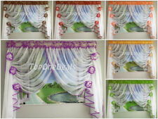 Amazing Ready Made Voile Net Curtain with Flowers Floral Living Room Dining Room