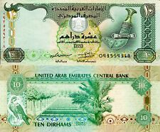UNITED ARAB EMIRATES 10 Dirhams Banknote Paper Money World Currency Pick p27c