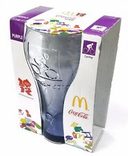 Collectible McDonald's Coca-Cola London Olympics Purple Tinted Glass Cycling
