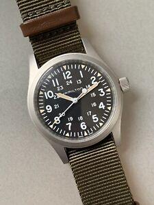 Hamilton Khaki Field Mechanical Watch - 38mm Manual Wind with Nato Strap - Mint