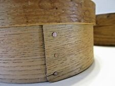 Pantry Box Antique Wooden 6 3/8 In. Dia. Copper Nails Oak Nice!!