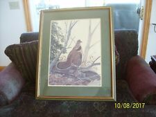 "John A Ruthven ""Ruffed Grouse"" Lithography Limited Edition Signed Print 847/1000"