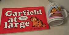 Vintage 1978 GARFIELD Small MUG coffee Cup & Garfield At Large Book