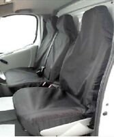 Vauxhall Vivaro LWB SWB Seat Covers Black Nylon Van heavy duty Single + Double