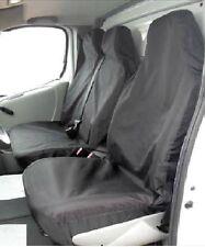 Vauxhall Vivaro LWB SWB Seat Covers Black Nylon Van heavy duty Single + Double