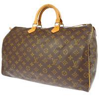 100% AUTHENTIC LOUIS VUITTON SPEEDY 40 HAND BAG MONOGRAM PURSE M41522 A41397f