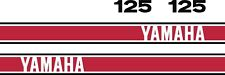 Yamaha TY125 Graphics stickers decals transfers TY 125 Trial Trials red & Black