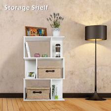 3 Tier Display Shelf Storage Bookshelf Bookcase Stand Rack Unit Cube 98CM White
