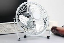 "4"" White Mini Portable USB Quiet Desk Fan Laptop PC Cooling Home Office Small UK"