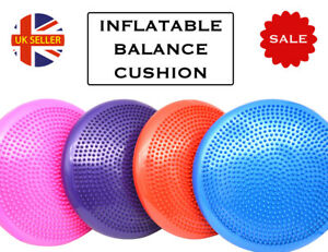 Proworks Balance Cushion Air Inflatable Stability Board Gym Physio Wob Free Pump