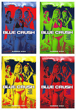 BLUE CRUSH (2002) SET OF 4 ORIGINAL ADVANCE MOVIE POSTERS  -  ROLLED