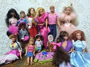 Lot Of 13 Vintage Mattel Barbie Dolls Ken Stacy Todd Midge Collector 70s-80s-90s