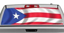 Truck Rear Window Decal Graphic [Flags / Puerto Rico] 20x65in DC84103