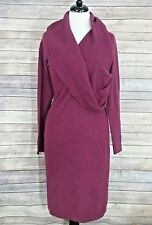 CULLEN 100% CASHMERE BURGANDY DRESS WITH COWL NECK - 3 - NWOT
