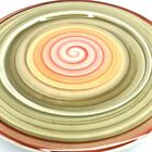 Pier 1 Decorative Ceramic Plate Italy Valencia 12? Plate Green Orange Red Swirl