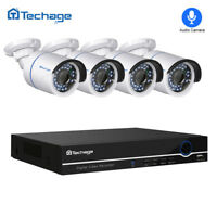 Techage 4CH 48V 1080P NVR 2.0MP POE IP Camera CCTV Home Outdoor Security System