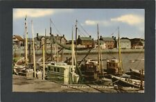 SKERRIES from the Harbour, Co.Dublin, Ireland. Fishing Boats.  p/u 1963.