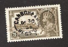 #229 - Newfoundland  - 24 Cent -  1935  -   Used  -  VF - superfleas