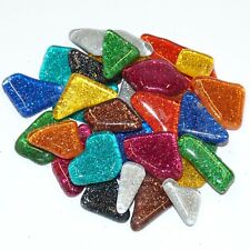 Soft Glas glitter mix polygonal 100 Gramm Mosaiksteine
