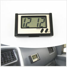 BLACK Shell LED Car Electronic Digital Clock Display Switch Time & Date For Fiat