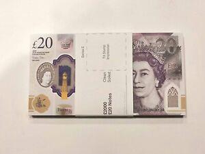 £20 GBP FAKE MONEY 100 NOTES - Movies Play Prank Joke Poker Cash Casino Photo