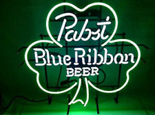 Blue Ribbon Shamrock Beer Bar Pub Store Party Room Wall Decor Neon Signs19x15