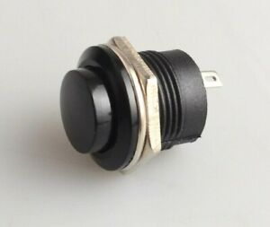Black Momentary Push Button Switch – 12v 5A Screen Wash Horn Kit / Classic Car