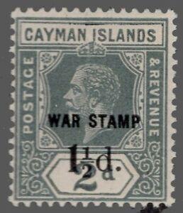 Cayman Islands .#MR7 MNH No.35 Surcharged 14P Wmk.3   'WAR TAX STAMP' 1920 VF