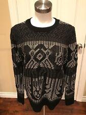 J. Crew Gray/Black Crewneck Sweater, Size Small