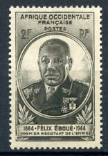 STAMP / TIMBRES COLONIES FRANCAISES NEUF AOF GOUVERNEUR EBOUE N° 2 **