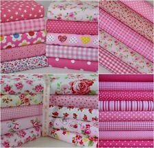 Restos de corta restos de tela rosa 20 Piezas Algodón polivinílico Patchwork Craft
