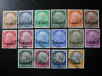 ELSASS THIRD REICH WWII OCCUPATION Mi. #1-16 used stamp set! CV $42.00