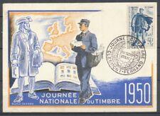CP 1950 journée du timbre Facteur rural Extra A387