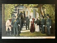 Vintage Postcard>1907>Last Days of John Brown>Eden Musee>New York