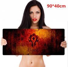 World of Warcraft WOW Large Game Mouse Pad Mat Laptop Gaming Mousepad 90*40cm