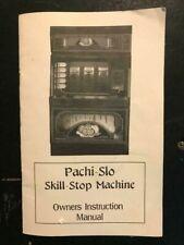 Pachislo Slot Machine Manual