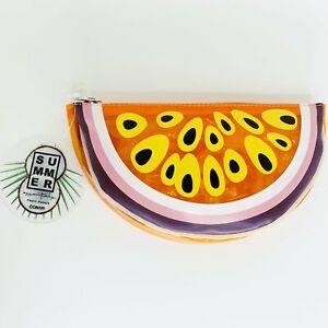 Conair Summer Essentials Fruit Pouch Orange Watermelon Makeup Bag Transparent