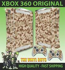 XBOX 360 VECCHIO forma DESERT CAMOUFLAGE MIMETICO ARMY ADESIVO SKIN e 2 SKIN PER PAD