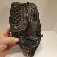 "Mizuno Finch 12"" Black Leather Softball Glove GPP1209D3 Right Hand Thrower"