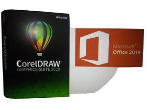 Microsoft Office Suite 2019 and CorelDRAW Graphics Suite 2020 for Windows