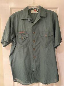 Vintage Dark Green BSA Explorer Venture Boy Scout Short Sleeve uniform shirt #6