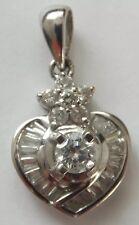 Vintage Diamond Pendant 18k White Gold