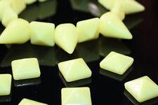 35pc 10mm Yellow Pyramid Spike Studs