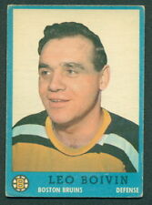 1962 63 TOPPS HOCKEY 5 LEO BOIVIN BOSTON BRUINS CARD