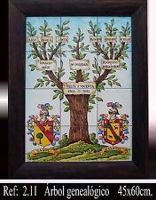 Ceramica ÁRBOL GENEALOGICO BODAS de ORO A MURAL ceramic PERSONALIZED FAMILY TREE