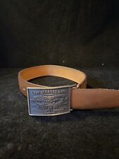 Vintage Levi Strauss & Co Childs Cowhide Leather Belt & Buckle Size 24