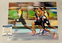 USAIN BOLT SIGNED 11x14 PHOTO OLYMPICS JAMAICA GOLD MEDAL AUTO+BECKETT COA! 11